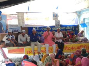 Day Three of the Indefinite Fast in Narmada Valley, Jal Satyagraha Starts